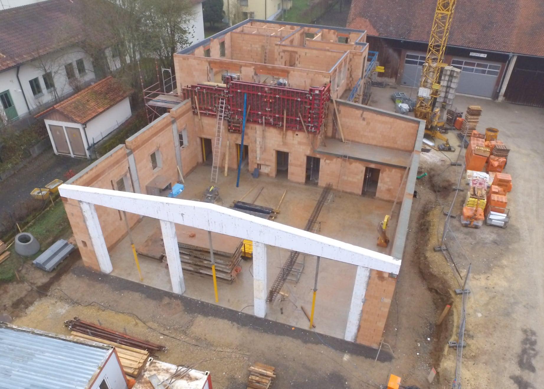 Bau des Feuerwehrhauses